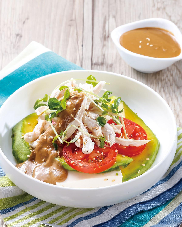 食譜:芝麻醬拌豆腐食蔬