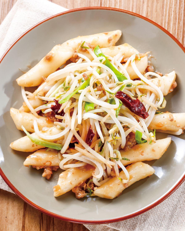 食譜:味噌肉醬炒年糕