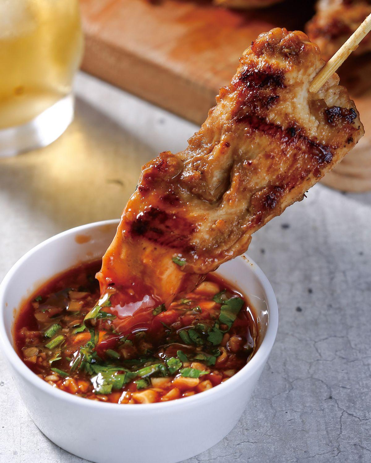 食譜:煎烤南洋烤雞串