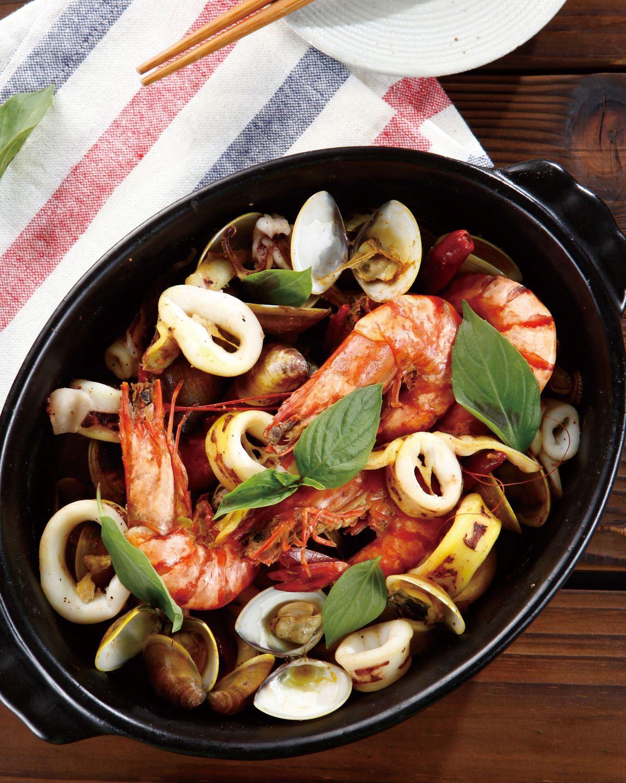 食譜:番紅花燜海鮮
