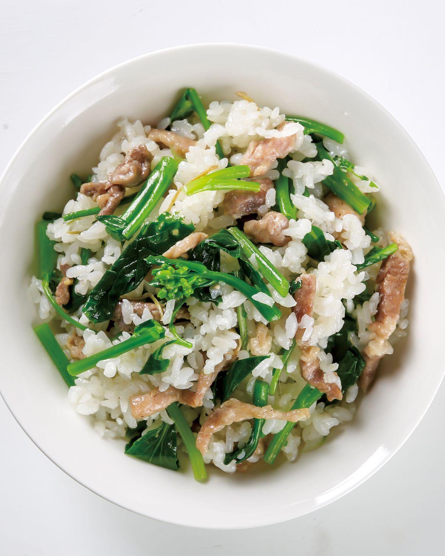 食譜:春菜炊飯