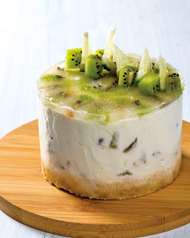 食譜:優格奇異果生乳酪
