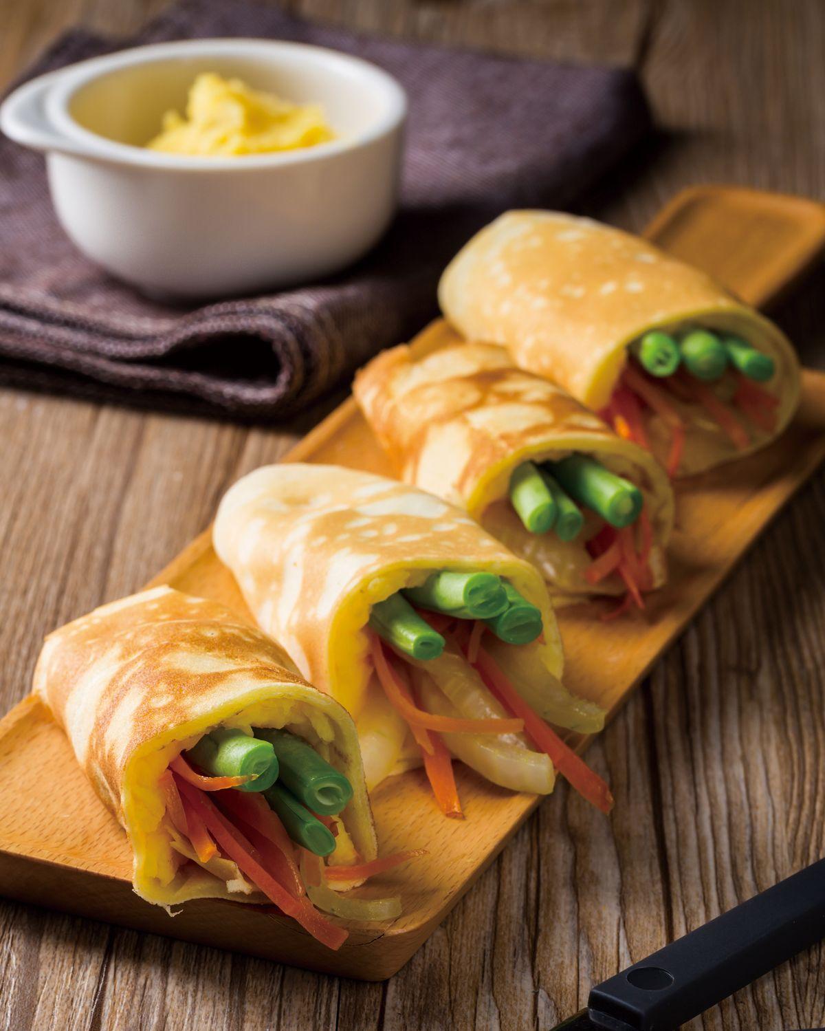 食譜:優格地瓜蔬菜捲餅