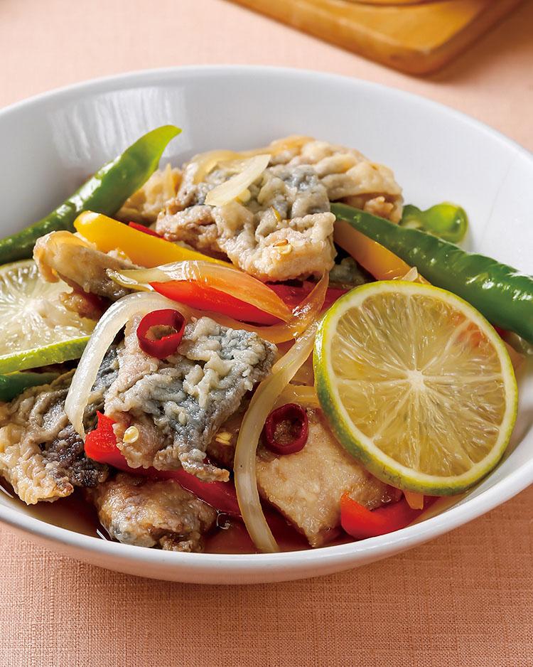 食譜:醋漬彩椒魚片