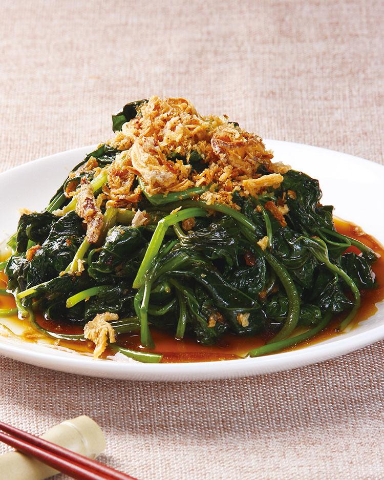 食譜:蔥油地瓜葉(1)