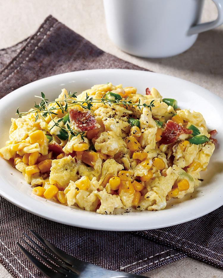 食譜:時蔬炒鬆蛋
