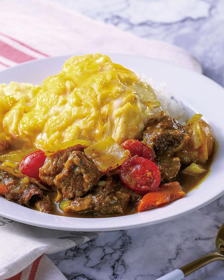食譜:咖哩牛肉嫩蛋包飯