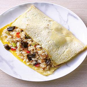 剝皮辣椒蔬菜薄蛋包飯