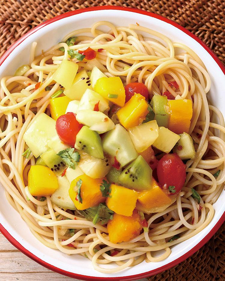 食譜:鮮果冷拌麵