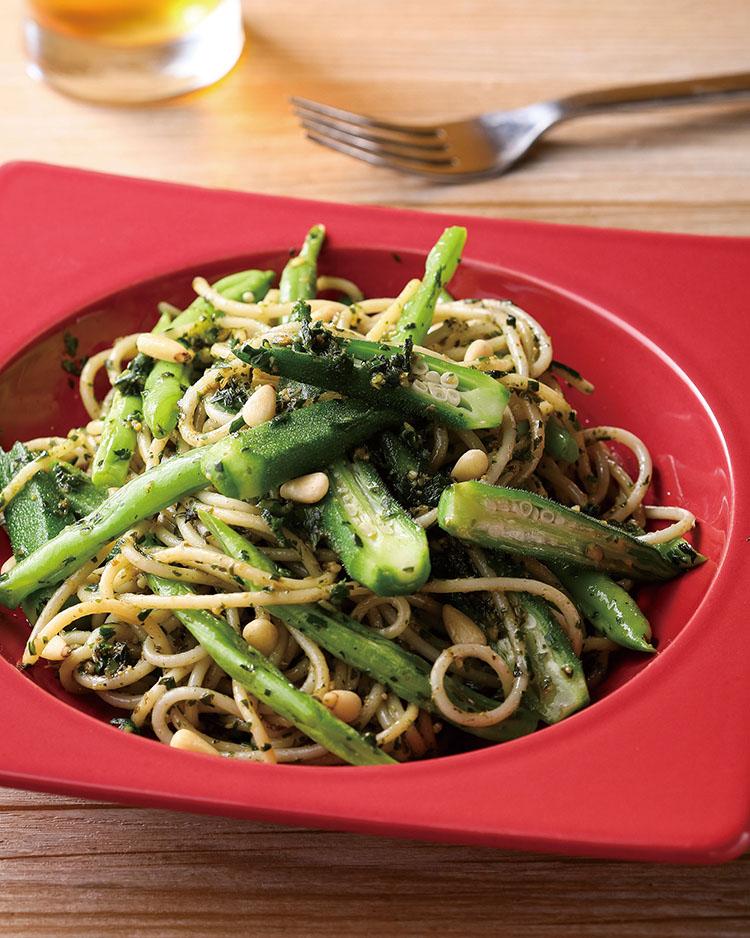 食譜:韭菜青醬拌麵