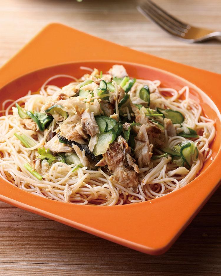 食譜:鯖魚天使冷拌麵