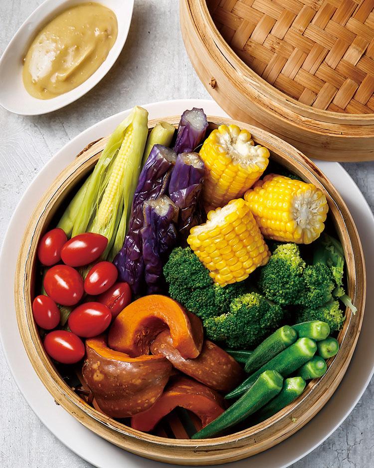 食譜:季節時蔬蒸籠