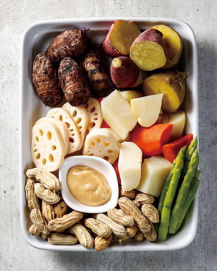 食譜:綜合根菜蒸盤