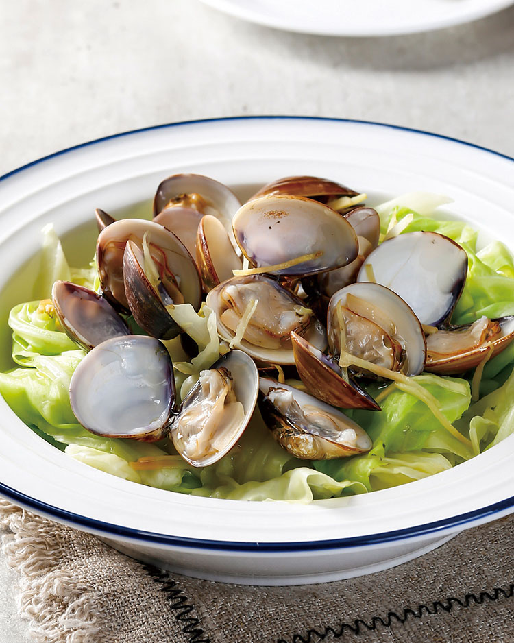 食譜:鮮蒸蛤蜊高麗菜
