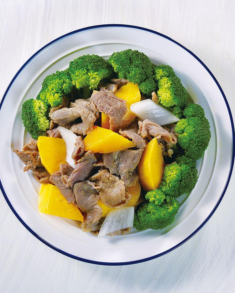 食譜:蔬果拌牛肉片