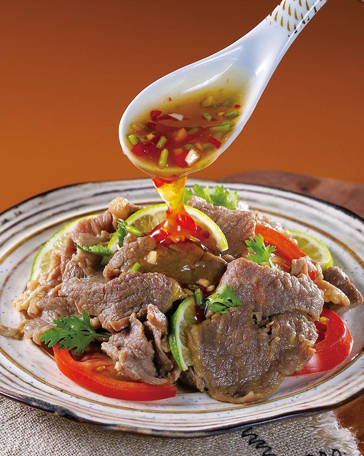 食譜:南洋酸辣牛肉片