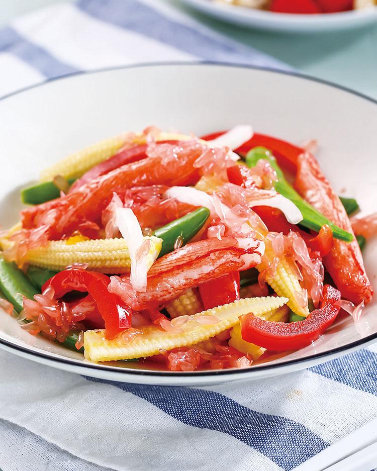食譜:柚香拌蟹腳