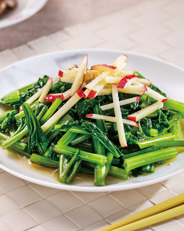 食譜:和風蘋果菠菜