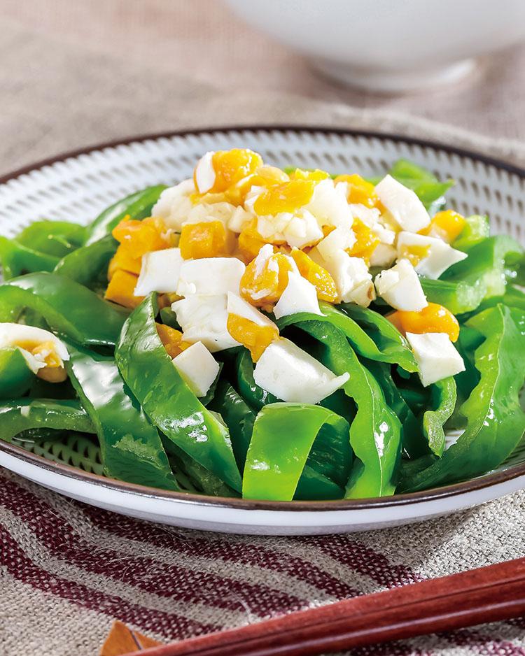 食譜:鹹蛋拌青椒