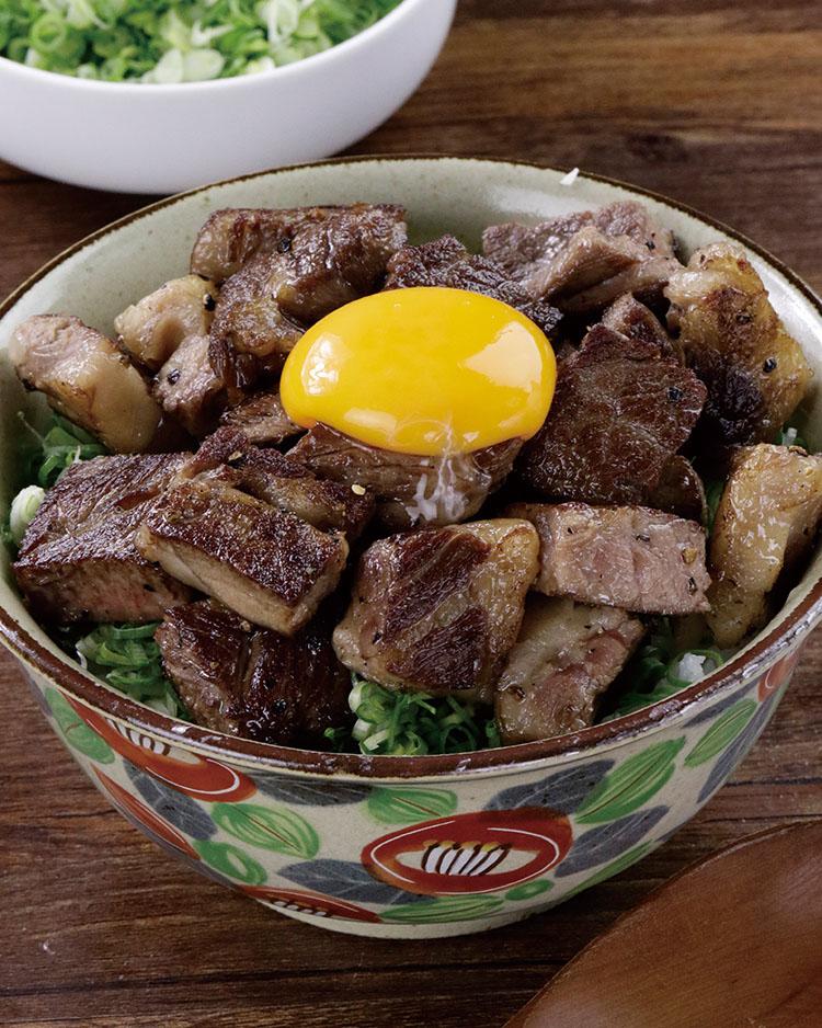 食譜:青蔥骰子牛丼