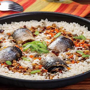 秋刀魚燉飯