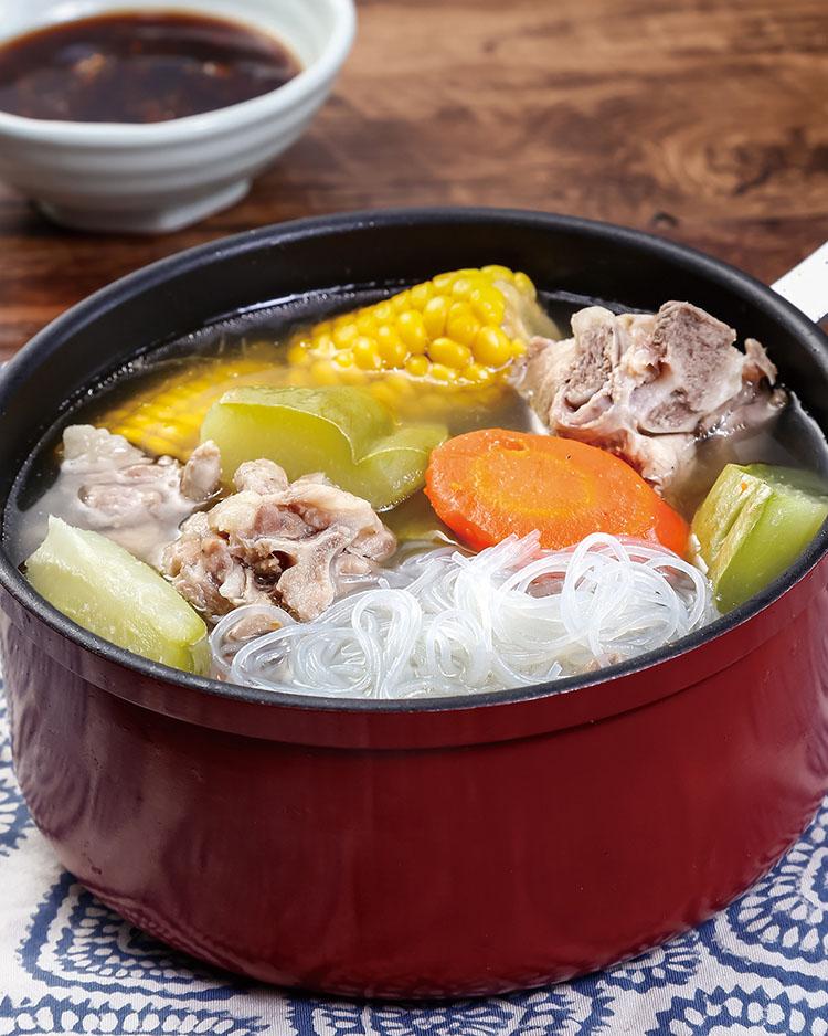 食譜:時蔬養生排骨鍋
