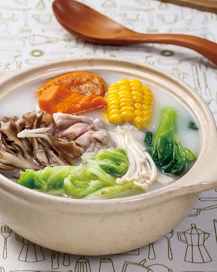 食譜:粥底雞肉鍋(1)