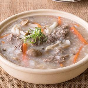蕈菇牛肉粥