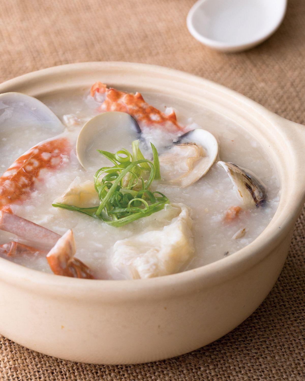 食譜:蛤蜊鮮蟹粥
