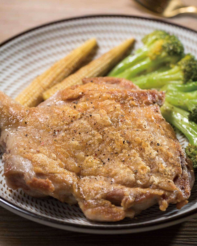 食譜:香煎脆皮鹽味雞腿