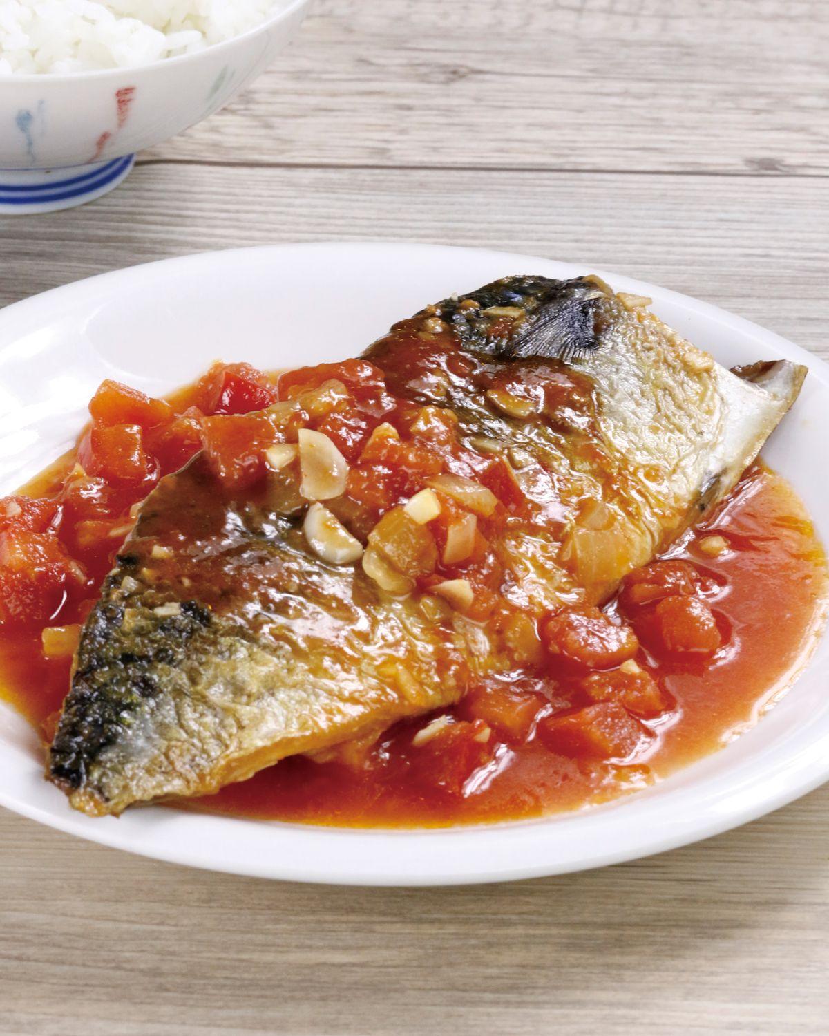 食譜:茄汁鯖魚(1)