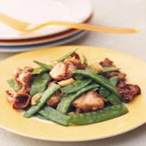 豌豆莢炒田雞