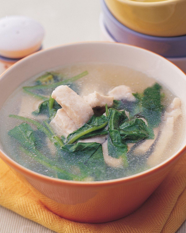 食譜:菠菜魚片湯