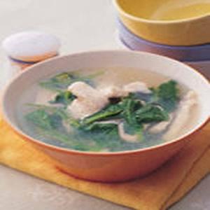 菠菜魚片湯