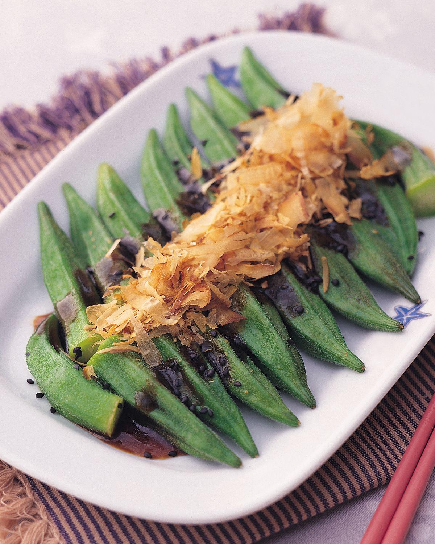食譜:涼拌芝麻秋葵