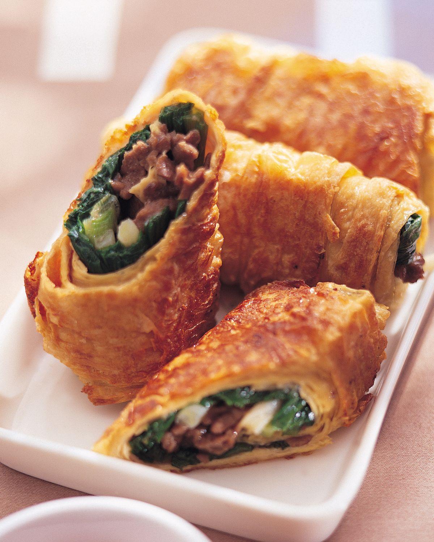 食譜:韭菜牛肉卷