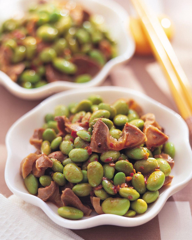 食譜:麻辣雞肫毛豆