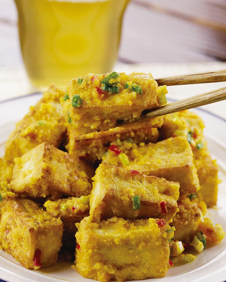食譜:金沙豆腐(2)