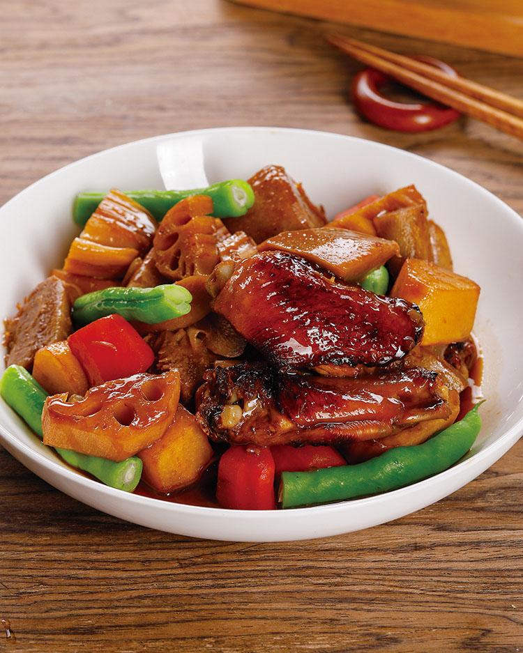 食譜:根莖蔬菜炒雞翅