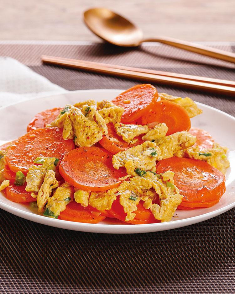 食譜:紅蘿蔔炒蛋(3)