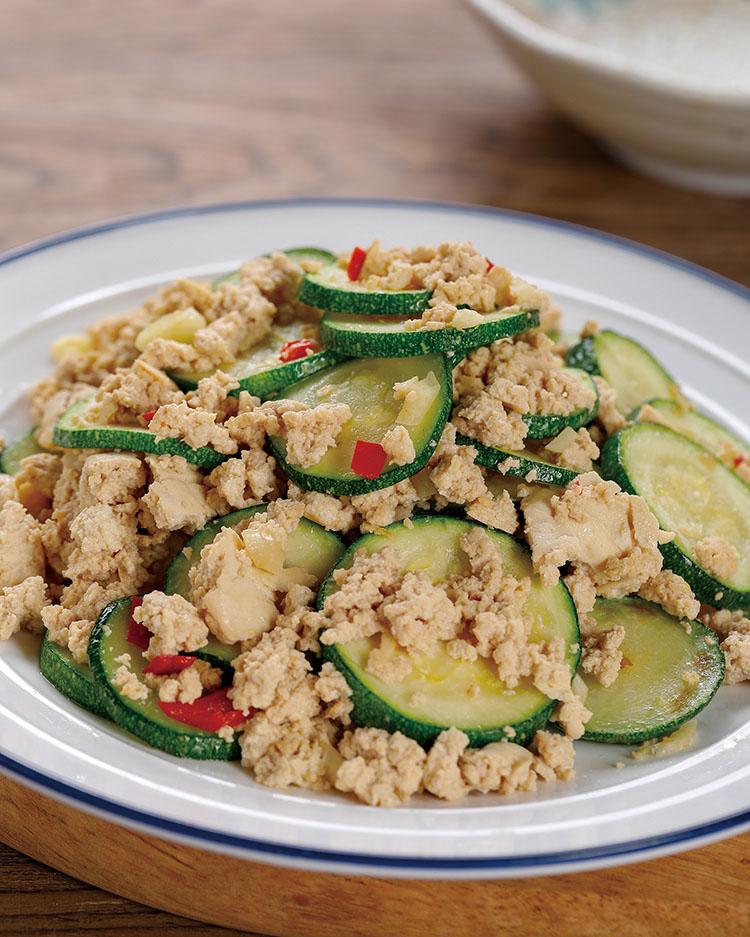 食譜:豆腐炒櫛瓜