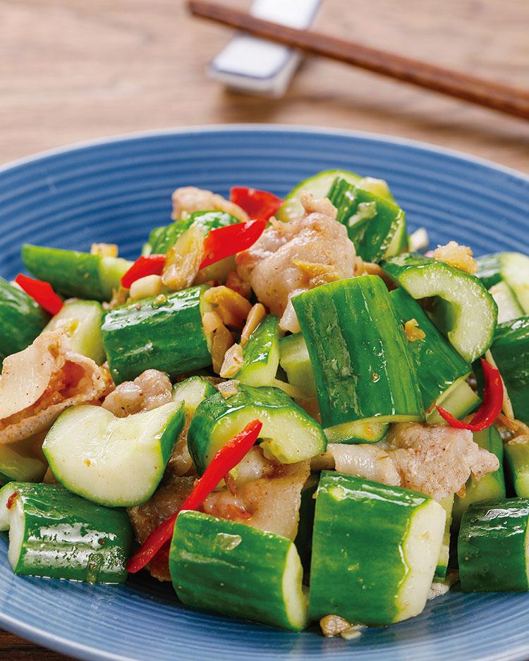 食譜:小黃瓜炒肉片(1)