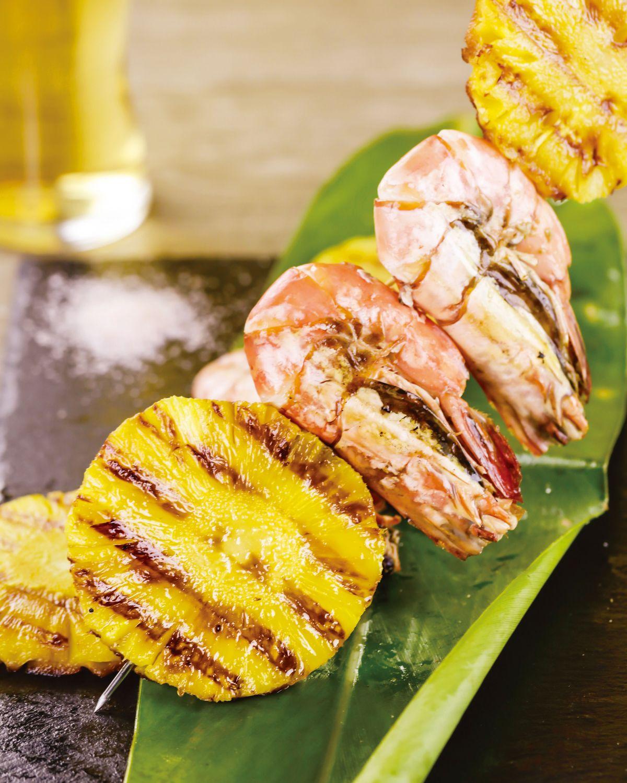 食譜:鳳梨烤鮮蝦