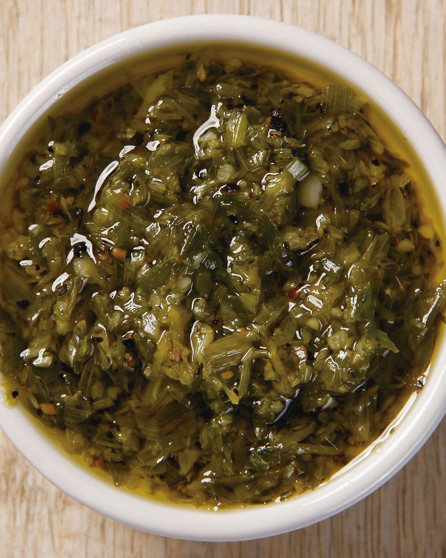食譜:橄欖油青蔥醬