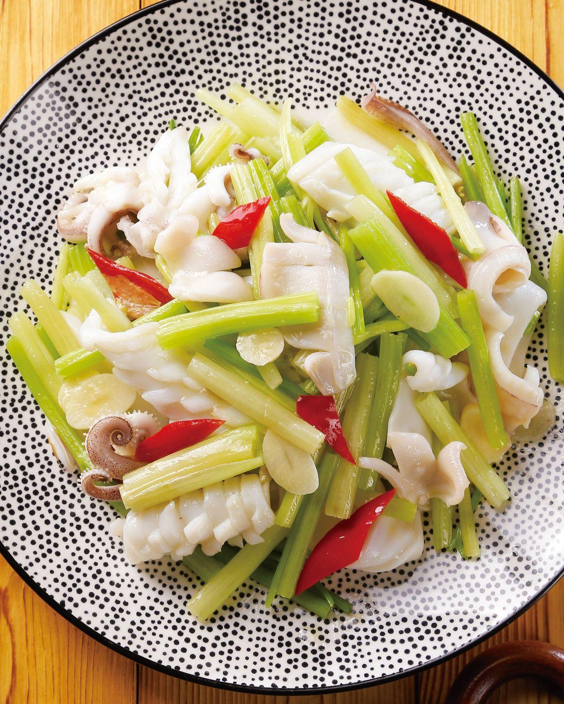 食譜:芹菜炒透抽(2)