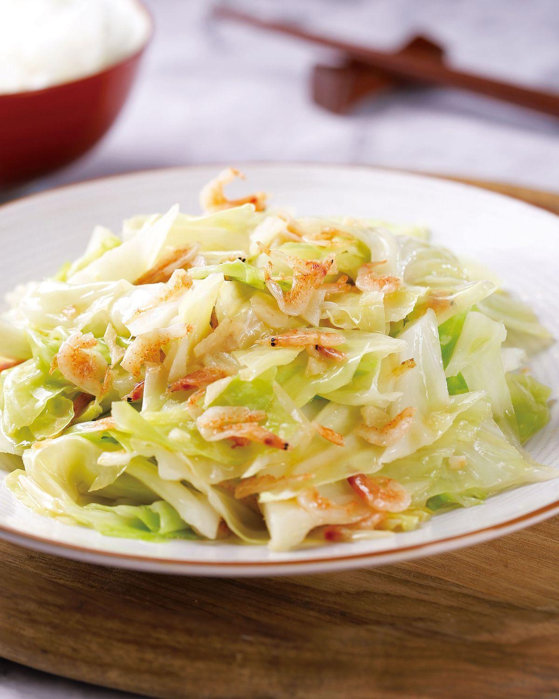 食譜:櫻花蝦炒高麗菜(3)