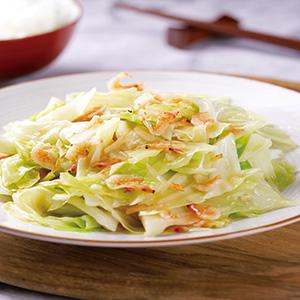 櫻花蝦炒高麗菜(3)