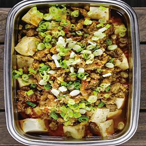 麻婆蒸豆腐
