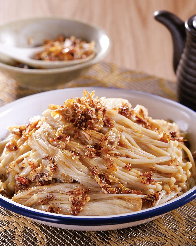 食譜:蔥油蒸金菇