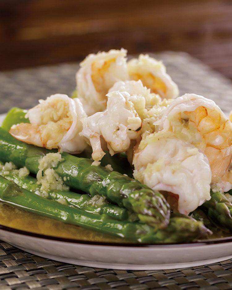 食譜:清蒸蘆筍鮮蝦
